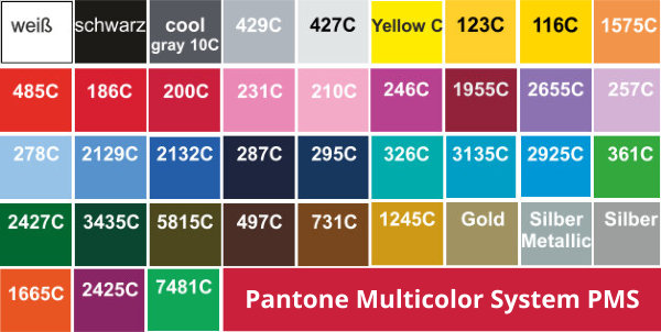 Pantone Multi Color System PMS